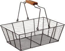 Metallic basket, mobile handles  : Trays, baskets
