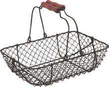 Metallic basket, rectangular 28x19x7.5 - 21 cm : Trays, baskets
