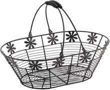 Metallic basket oval 35x23x11 cm : Trays, baskets
