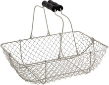White Metallic basket 33 x 24 x 10 cm  : Trays, baskets