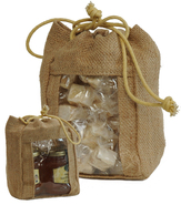 Jute pouch + Window  : Confectionery packaging, candy packaging
