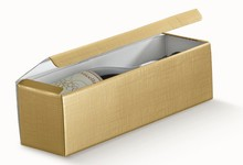 Paperboard box for 1 bottle, Gold : Bottles packaging