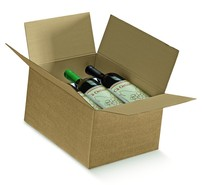 American box 6 bottles : Bottles packaging and local products