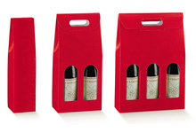 Red collection for 1, 2, 3 bottles : Bottles packaging and local products