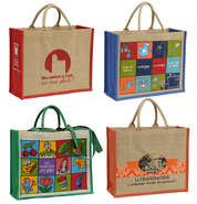 Jute bags with your logo : Catering  delicatessen shop