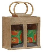 Jute bag for 2 jars x 1 kg : Jars packing