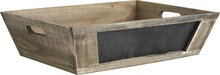 Wooden trays + blackboard : Trays, baskets
