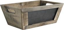 Wooden trays + blackboard : Trays, baskets