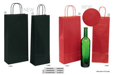 Les sacs bouteilles en kraft brun vergé  : Bottles packaging and local products