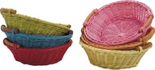 Corbeilles rotin teintées : Trays, baskets