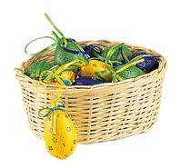 Corbeille osier garnis de 18 œufs : Celebrations