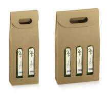 Cardboard boxes for Olive Oil : Bottles packaging