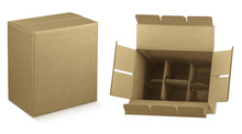 Easy Paperboard box for 6 bottles : Bottles packaging