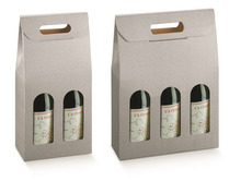 Paperboard box 2,3 bottles : Bottles packaging