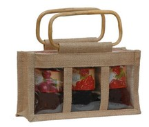 Jute bag for 3 jars x 500 gr : Jars packing