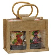 Jute bag for 2 jars  x 0.5 kg : Jars packing