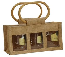 Jute bag for 3 jars x 250 gr : Jars packing