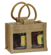 Jute bags for 2 jars x 0.250 kg :