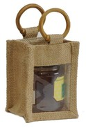 Jute  bag  for 1 jar  0.250 kg : Jars packing