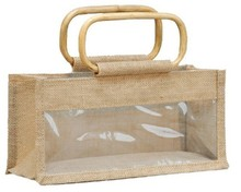 Jute bag for 3 jars x 500 gr without separations : Jars packing