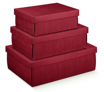 Burgundy Cardboard box : Gift boxes