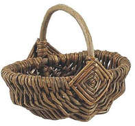 Mini panier en osier brut : Trays, baskets