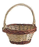 Small wicker basket Ø 13 h 5 cm : Trays, baskets