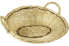White wiker van 27 x 29 x 12 cm : Trays, baskets