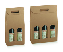 Cardboard Packaging 2, 3 bottles 0.75cl : Bottles packaging and local products