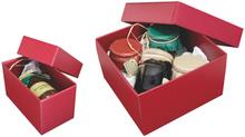 "Cardboard box ""Gourmet"" Burgundy : Boxes"
