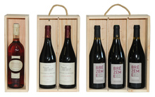 Coffret bois type Plumier 1, 2, 3 bouteilles  : Bottles packaging and local products