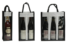 Non-woven bottle's bag with window : Promotions