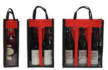 Non-woven bottle's bag with window : Promo