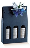 Blue Milan for 3 bottles  : Bottles packaging and local products