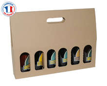 Paperboard box 6 beer bottles 33cl : Bottles packaging and local products