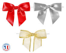 Satin Pre-Tied Bows : Packaging accessories