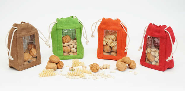 Jute pouch + Window  : Celebrations
