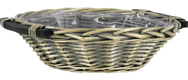 Corbeille en osier fendu gris : Trays, baskets