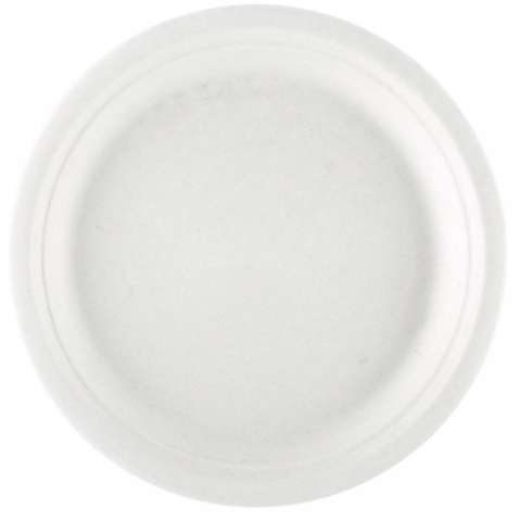 BIODEGRADABLE white plate : Biodegradable dishes