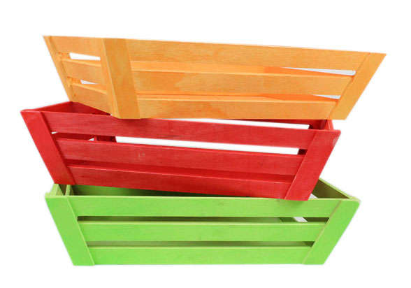 Corbeilles COLOR en bois : Trays, baskets