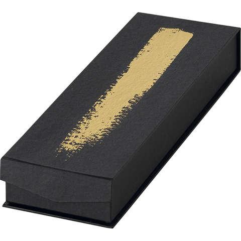 Coffret chocolats carton - 2 rangées NOIR/OR : Boxes