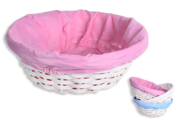 Pack of 3 Round wicker basket + tissue : Trays, baskets