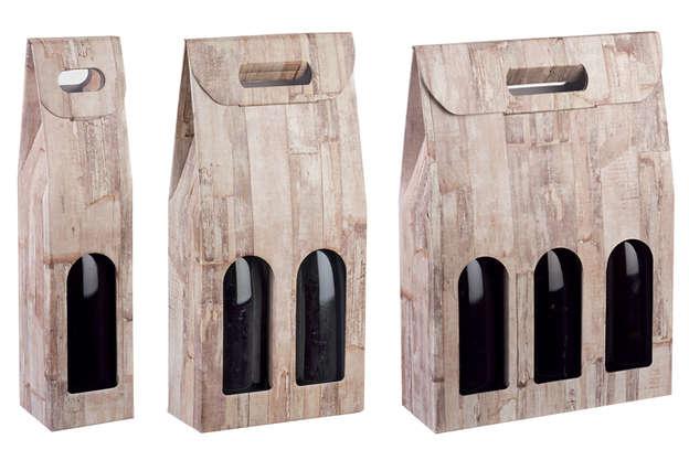 Wood collection 1. 2. 3 bottles : Bottles packaging