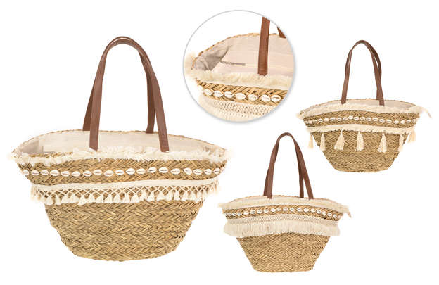 Lot de 3 sacs cabas COQUILLAGES : Bags