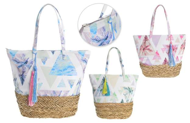 Lot de 3 Sacs mode motif TRIANGLES : Bags