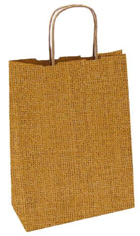 Sac en papier kraft motif JUTE : Bags