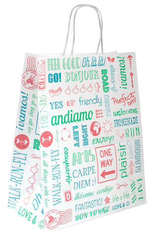 Sac kraft motif FUN : Bags