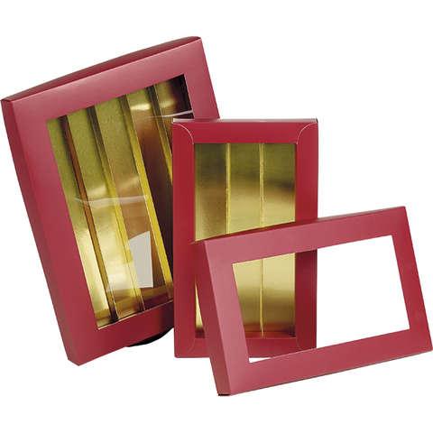 Coffret carton chocolats ROUGE / OR : Boxes