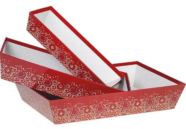 """Corbeille carton """"Bonnes fêtes"""" : Trays, baskets"""