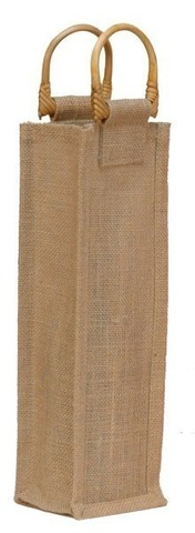 Jute bag for 1 bottle 0.75 l, : Bottles packaging and local products